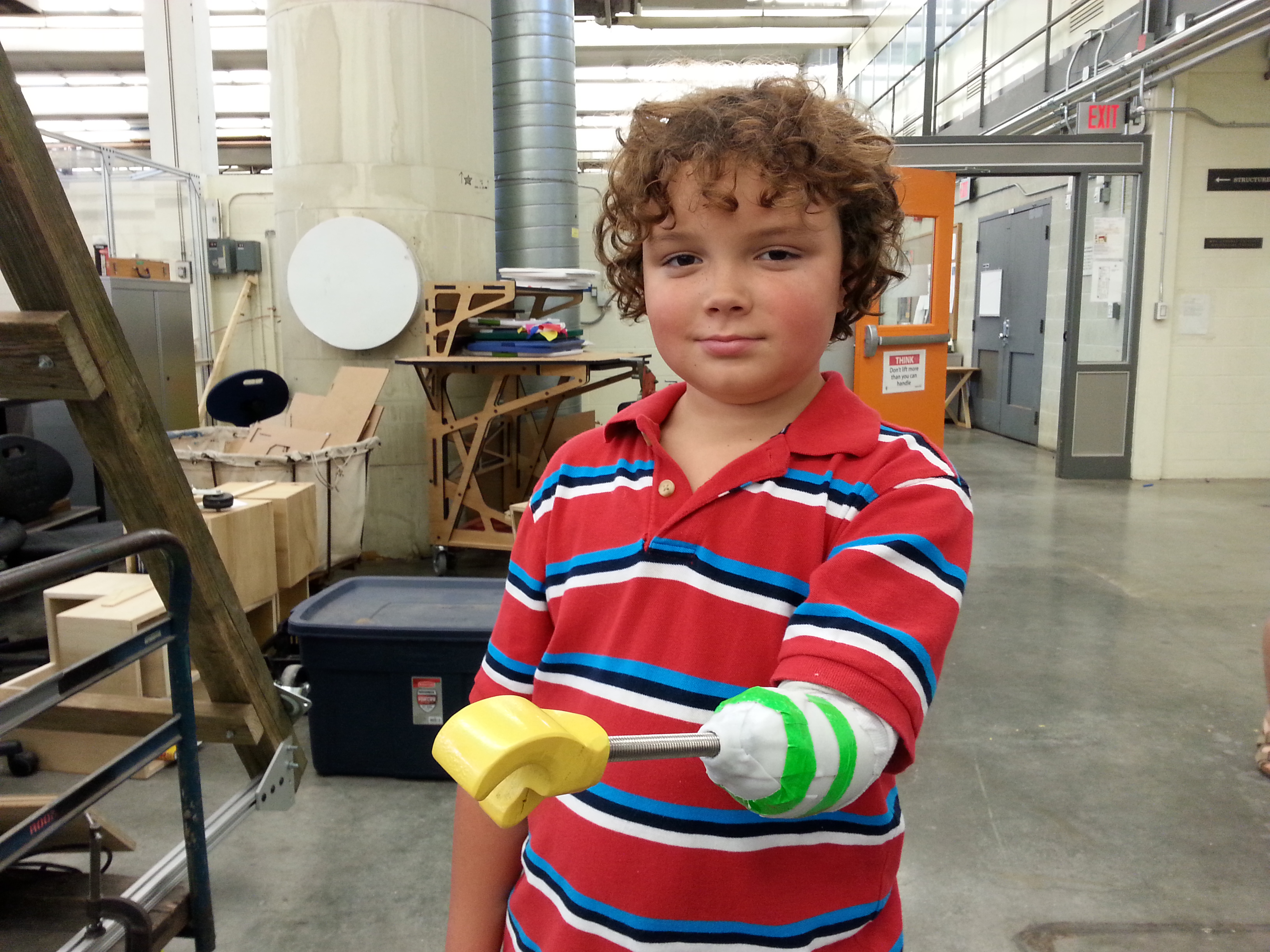 This is the prototype Aidan made during his time at the Superhero Cyborgs summer camp.