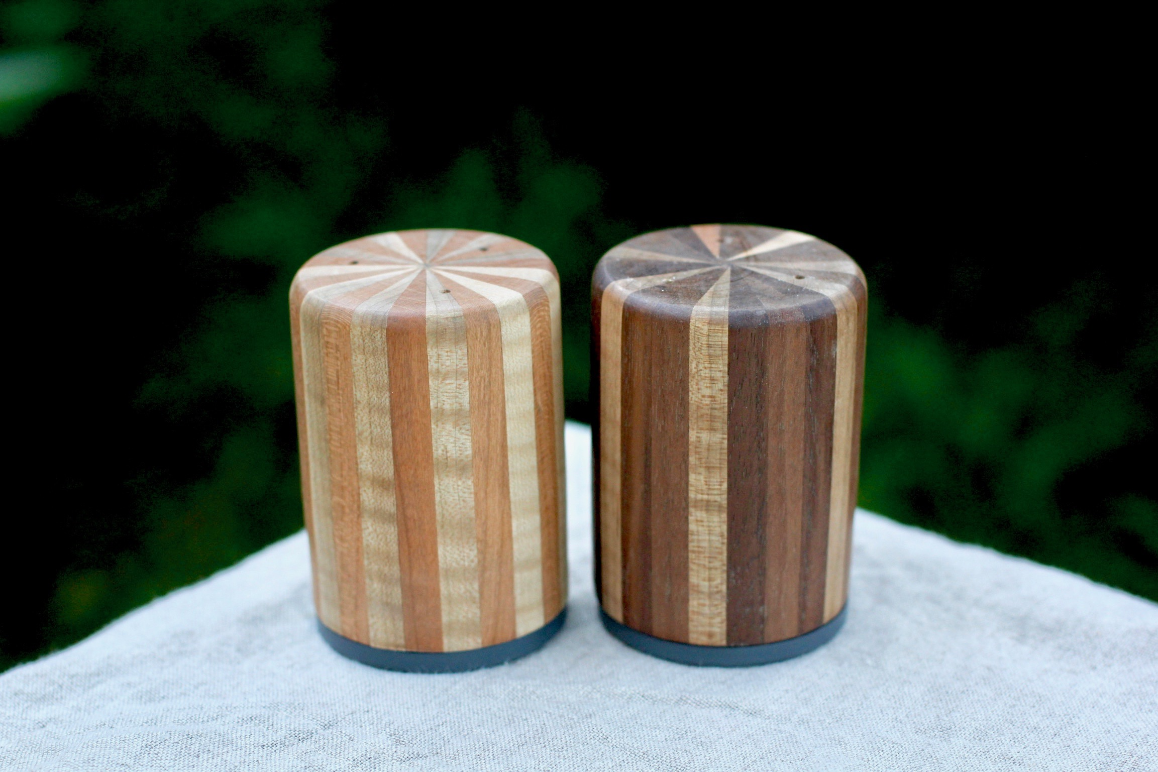 Another set of salt and pepper shakers made from scrap wood.