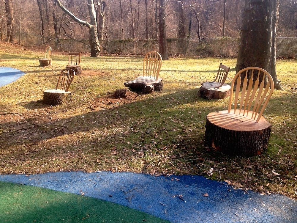 A series of StumpChairs commissioned by Smith Playground in Philadelphia