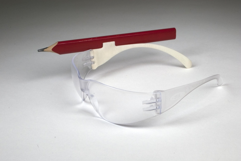 This safety glasses hack builds off of an observation of people sticking pencils behind their ears.