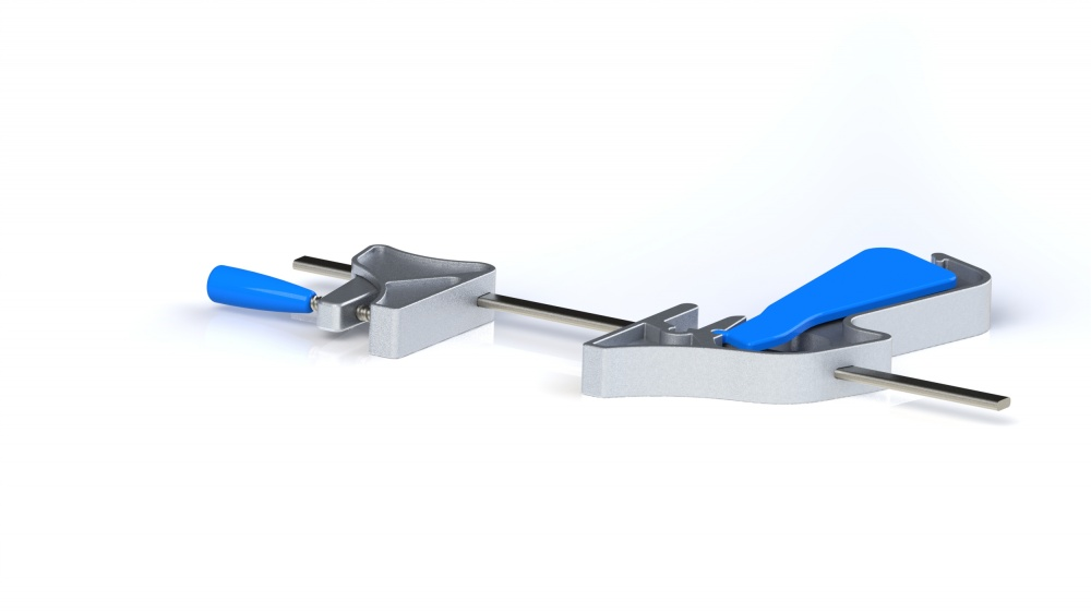 This clamp redesign combines the functionality of a quick grips clamp and a bar clamp.