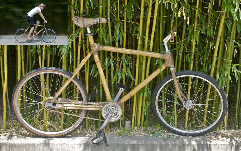 Bamboo bike built in in 2009