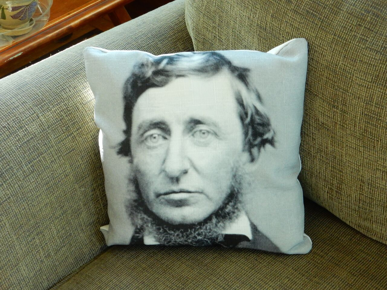 Digitally Printed Cotton, Polyester Filling:  Henry David Thoreau had a way with words. We have a different way with words.